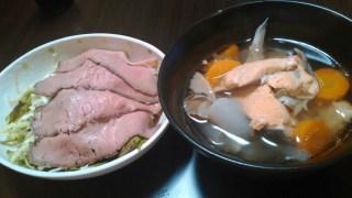 5月26日の食事【鮭の荒汁】
