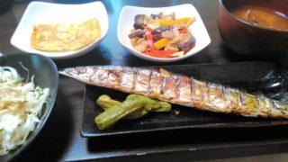 焼き魚・野菜炒め・玉子焼き・サラダ・味噌汁
