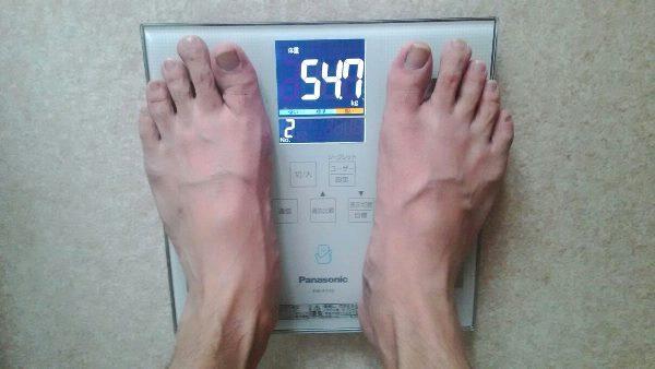 ライザップスタイル3ヵ月目の体重
